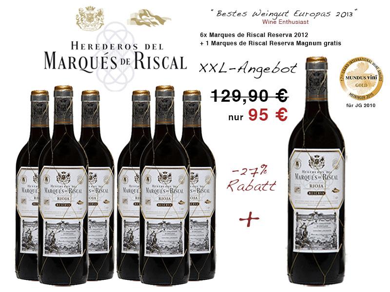 Marques de Riscal Réserva Magnum Angebot günstig kaufen
